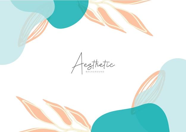 Abstracte kunstsjablonen met bloemen en geometrische elementen. organische achtergrond. pak voor posts op sociale media, mobiele apps, bannersontwerp en web-, internetadvertenties. vector mode achtergronden
