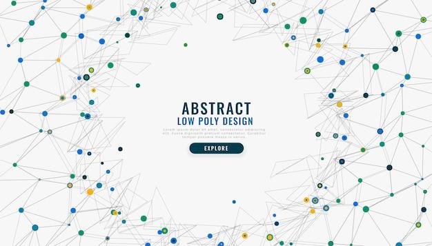 Abstracte laag poly digitale netwerk mesh achtergrond