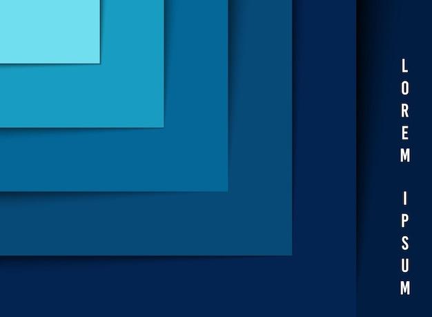 Abstracte laag van blauw lijnpatroon stap illustratiesjabloon.