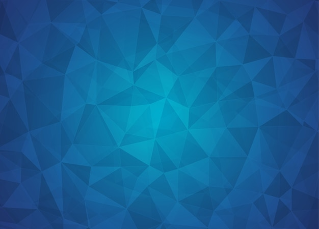 Abstracte lage polyachtergrond van driehoeken in donkerblauw