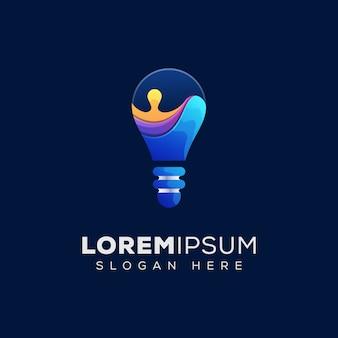 Abstracte lamp met vloeibaar logo