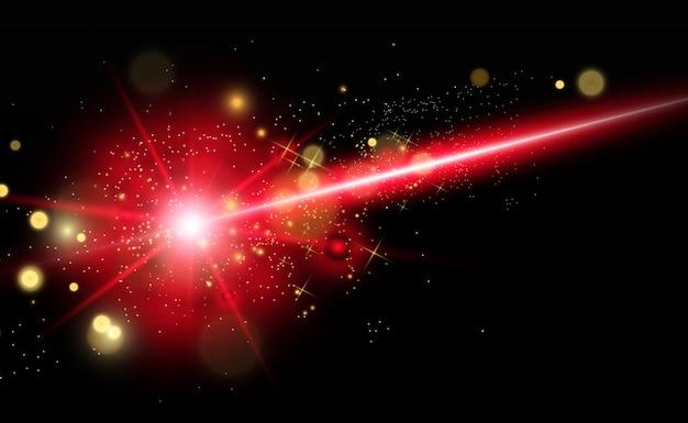 Abstracte laserstraal. transparant geïsoleerd op zwarte achtergrond. .
