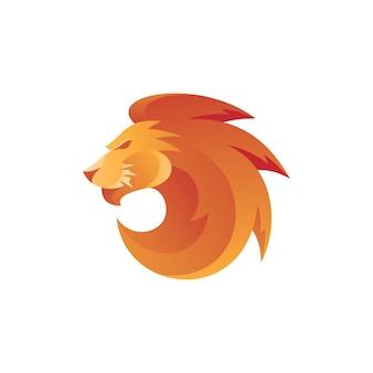 Abstracte leeuw leo head mascotte