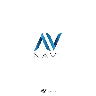 Abstracte letter a, v en n concept logo