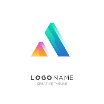 Abstracte letter a vector logo