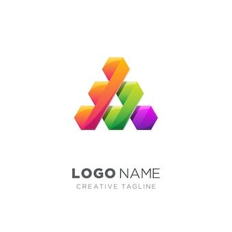 Abstracte letter een diagonaal logo