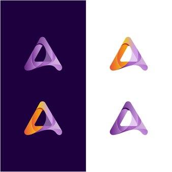 Abstracte letter een geweldige kleur Premium Vector