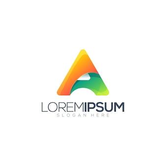 Abstracte letter een logo sjabloon