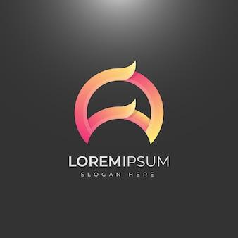 Abstracte letter een verloop-logo