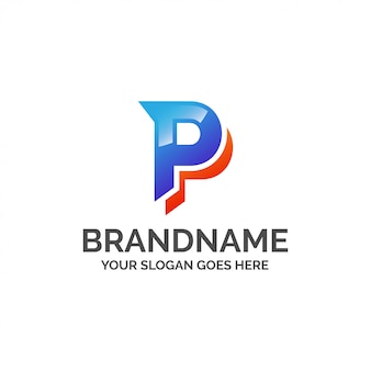 Abstracte letter p logo
