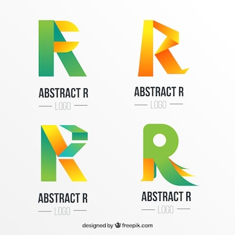 Abstracte letter r logo collectie
