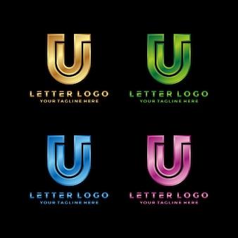 Abstracte letter u luxe logo-ontwerp
