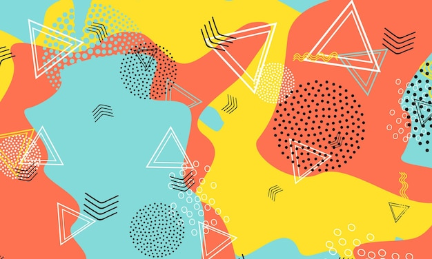 Abstracte leuke achtergrond. kleur vormen patroon. splash leuke achtergrond.