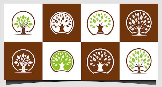 Abstracte levendige boom logo ontwerp vector