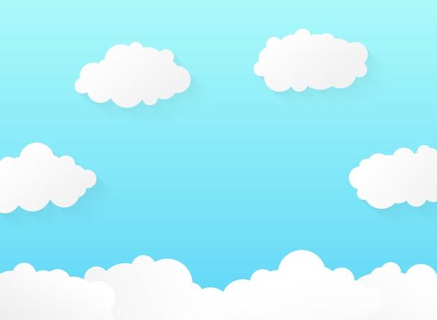 Abstracte levendige gradiënt blauwe hemel met zachte wolken patroon ontwerp.