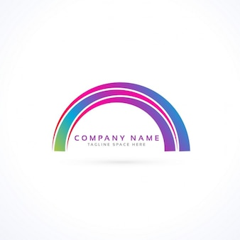 Abstracte levendige regenboog stijl logo