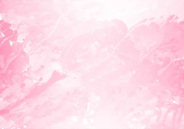 Abstracte licht roze splash aquarel textuur achtergrond