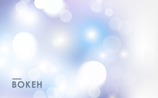 Abstracte licht zilveren bokeh achtergrond