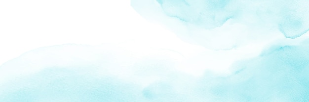Abstracte lichtblauwe aquarel banner.