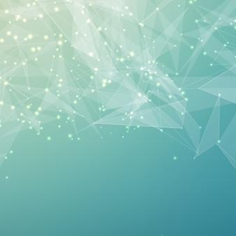 Abstracte lichtblauwe netwerkachtergrond