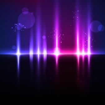Abstracte lichte achtergrond, futuristische illustratie