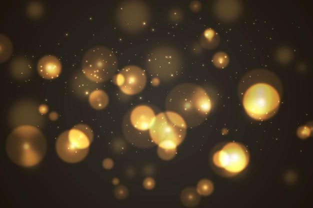 Abstracte lichte deeltjes bokeh-achtergrond