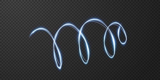 Abstracte lichte lijnen die in een spiraal wervelen