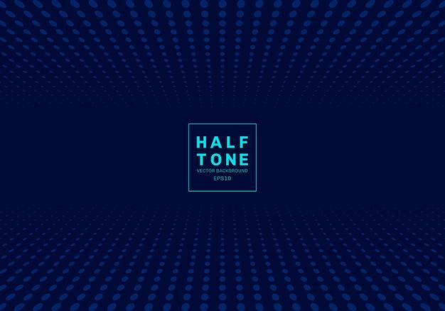 Abstracte lichte stip halftone blauwe achtergrond
