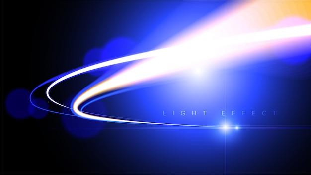Abstracte lichtsnelheid in vector