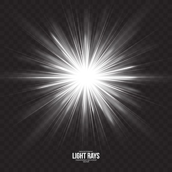 Abstracte lichtstralen effect vector achtergrond