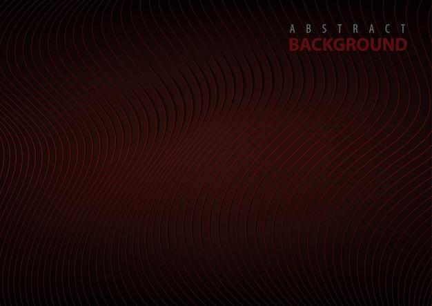 Abstracte lijn patroon achtergrond op donkerrood