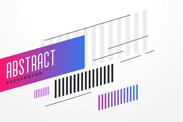 Abstracte lijnen achtergrond ontwerpsjabloon