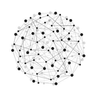 Abstracte lijnen en punten van wereldwijde verbindingen