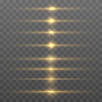 Abstracte lijnen met gloedlichteffect. Premium Vector