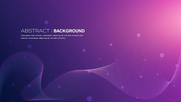 Abstracte lijnen op paarse achtergrond met kleurovergang
