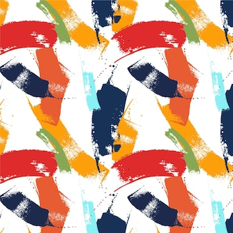 Abstracte lijnen penseelpatroon Premium Vector