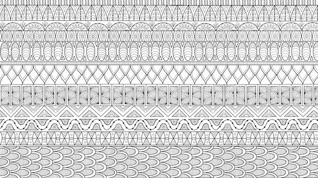 Abstracte lijnkunst van bloem voor achtergrond, volwassen kleurboekillustratie