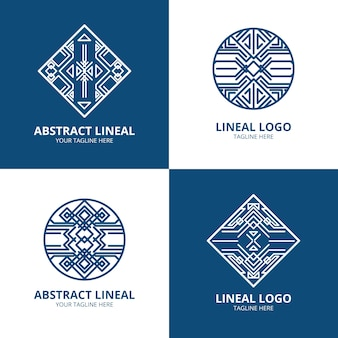Abstracte lineaire logo-collectie