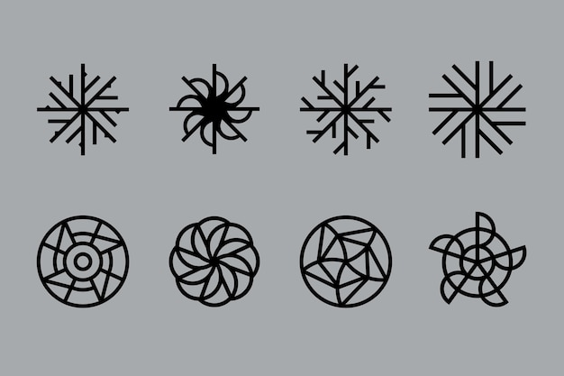 Abstracte lineaire ontwerp logo-collectie