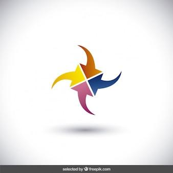 Abstracte logo gemaakt met pijlen