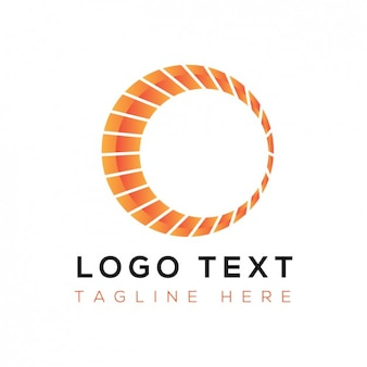 Abstracte logo met oranje cirkel
