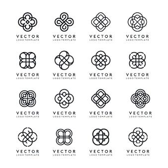 Abstracte logo's instellen