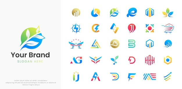 Abstracte logo-sjabloonverzameling