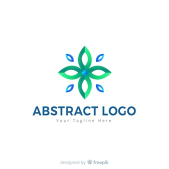 Abstracte logo stijl verloopstijl