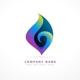 Abstracte logo template ontwerp