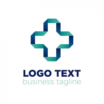 Abstracte logo y origami stijl