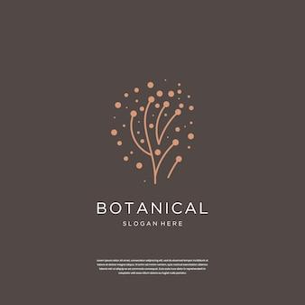 Abstracte luxe botanische logo ontwerp inspiratie.