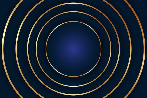 Abstracte luxe cirkel achtergrond. vectorillustratie. abstracte gouden ronde vormachtergrond
