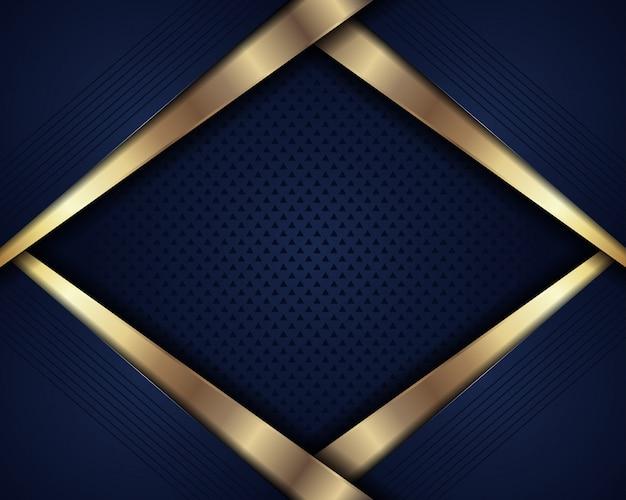 Abstracte luxe donkerblauw met overlappende laag