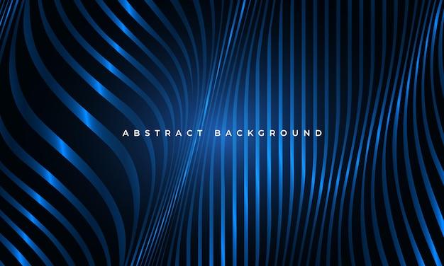 Abstracte luxe gloeiende blauwe vloeistof golvende vormen geometrische elegantie achtergrond